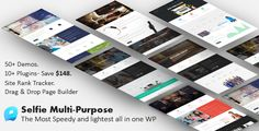Selfie | Responsive Multi-Purpose WordPress Theme . Selfie is a Multi/One Page WordPress Theme that is considered as a perfect solution for all kinds of businesses from corporations, shop owners and small businesses to startups, artists and bloggers. Selfie business wordpress theme gives you the power to create a unique-looking website with an