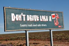 country road sign example