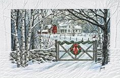 Preview Image For Product Titled Country Christmas Scene