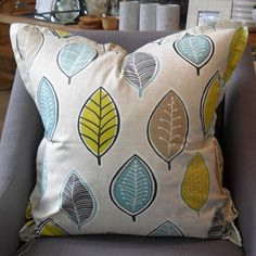 Large Leaves Scatter Cushion with Oxford Edge Available including or excluding feather and down inner and in various sizes Cotton - Cold Wash Lead time +- Scatter Cushions, Throw Pillows, Indoor, Leaves, Boutique, Interior, Toss Pillows, Decorative Pillows, Decor Pillows