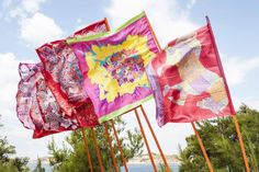 Beautiful scarfs became our flags by Hermes Paris ! Hermes Paris, Banner, Racing, Scarfs, Flags, Beautiful, Banner Stands, Running, Scarves