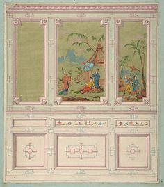 Designs for wall panels by Jules Edmond Charles LaChaise at the Metropolitan Museum of Art