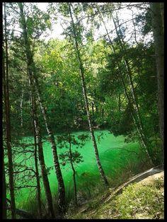 Green Lake in Geopark Luk Muzakowa, Poland