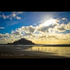 St Michael's Mount - castle on tidal island accessed by causeway