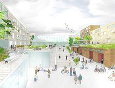 Our city, our collective Landscape Architecture Section, Landscape Architecture Drawing, Park Landscape, Architecture Plan, Pocket Park, Space Illustration, Architectural Section, Urban Design, City