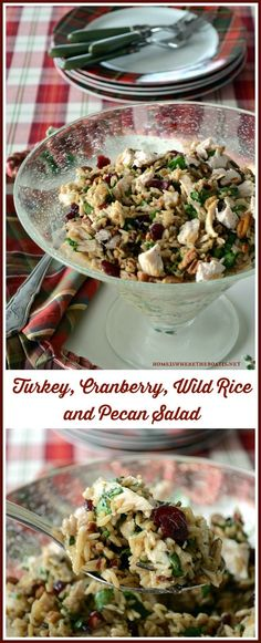 Turkey, Cranberry, Wild Rice and Pecan Salad - can substitute chicken