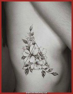 Rib Tattoos For Women: 22 Ideas To Discover - # diseosparatatuajes . - Rib Tattoo For Women: 22 Ideas To Discover – # diseosparatatuajes – - Body Art Tattoos, Small Tattoos, Sleeve Tattoos, Tatoos, Ink Tattoos, Tattoo Rippen Frau, Jasmin Tattoo, Geometric Shape Tattoo, Geometric Shapes