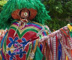 MARACATU RURAL - Dança folclórica Pernambucana (Brasil)  onde figuram os Caboclos de Lança.