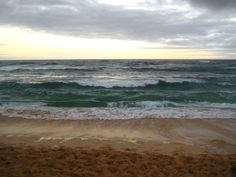 This was the beach that was right outside our condo in kauai last year.