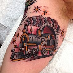 Lady luck tattoo by oliver peck tattoo ideas pinterest for Crazy train tattoos