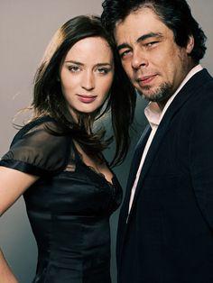 Emily Blunt and Benicio del Toro by James Dimmock.