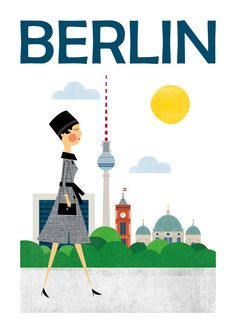 Travel City Prints Berlin Poster Germany Mid by TomasDesign