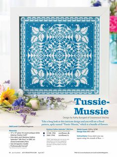 Tussie Mussie From Just Cross Stitch JCS March - April 2017 1 of 4