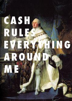 Antoine-François Callet, King Louis XVI (1754-1793) / C.R.E.A.M., Wu-Tang Clan. Image credit: Fly Art