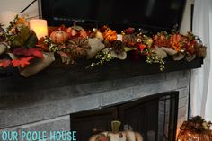 Fall Mantle Home Decor for the holidays - Addicted 2 Savings 4 U