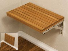 fold down shower bench -- Not sure if I would put it in the bathroom remodel, but it might work at the back door.