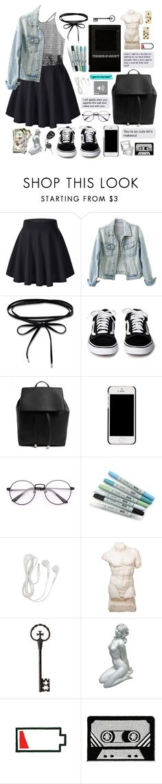 """We ruled the kingdom inside my room"" by nyctophilia-wonderwall ❤ liked on Polyvore featuring Forever 21, Charlotte Olympia, stripes, blackandwhite and theatre"