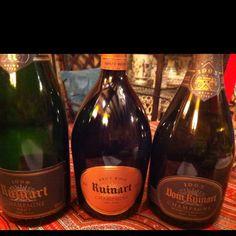 Wonderful trio of Ruinart - vintage 1998, Rosé Non Vintage & Dom Ruinart 1993 - v v Yummie!!