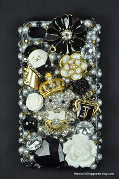 Juicy Couture Inspired Iphone 4 Bling Decoden Phone Case/Cover- (Back Cover Case) (C180)