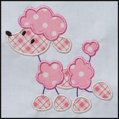 Stick Poodle Applique designs
