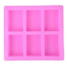 6 Rectangle Cavity Silicone Rubber Soap Mold – All Arts Online