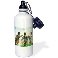 3dRose The Drinkers by Vincent Van Gogh, Sports Water Bottle, 21oz