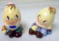 PY/Miyao Humpty Dumpty Egg Head Salt and Pepper Shakers by Cathygio, via Flickr