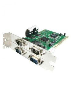 PCI Serial 4 Port 4-port ( 2 x 2 ) DB-9 Serial (RS-232) PCI Controller Card  Moschip 9845 Chipset Harga rp245.000 Dapatkan harga special khusus untuk member di : www.tokomipo.com