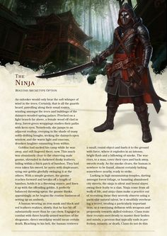 DnD 5e Homebrew — Ninja Rogue by The_Singular_Anyone