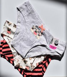 6ea487c85c Primark Pug Dog Knickers  Group Pugs  3 Pack Hipster Briefs Underwear Sizes  6-