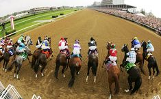 The Kentucky Derby is the most famous horse racing competitions around the world at Churchill Downs
