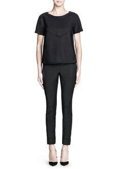 Neoprene-effect boxy blouse  #Mango #Premium #FW13