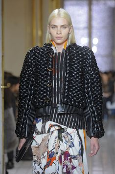 Balenciaga F/W 2011 leather; knitted leather!