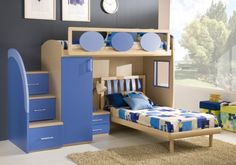 Rocking Awesome Boy and Girl Bedrooms Inspiration : Double Loft Beds For Boys And Girls Bedroom Design Ideas Boy And Girl Shared Room, Boy Girl Bedroom, Boy Room, Kids Room, Boy Bedrooms, Girl Rooms, Modern Room Design, Girls Room Design, Bunk Beds Boys