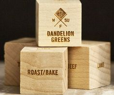 Avoid falling into a culinary rut by keeping your recipes fresh and diverse using these foodie dice. The set includes laser engraved wooden dice that displays various spices and ingredients designed to make you more adventurous in your cooking endeavors.