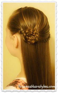Elegant rosette braid hairstyle tutorial