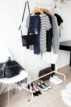 The Five Most Important Tips for Minimalist Interior Design - Minimalist Home Decor - Minimalist Closet, Minimalist Home Decor, Minimalist Fashion, Minimalist Chic, Capsule Wardrobe, Wardrobe Staples, Wardrobe Basics, How To Have Style, Wardrobe Organisation