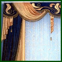 and drapes speak luxury design. Curtains And Draperies, Elegant Curtains, Cool Curtains, Beautiful Curtains, Valances, Window Curtains, Drapery, Arched Window Treatments, Window Coverings