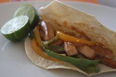 Fajitas de tofu | Cocina y Comparte | Recetas de Ana Arizmendi de Fácil de Digerir y Lunes sin Carne