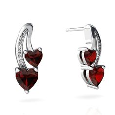 Earrings-Garnet