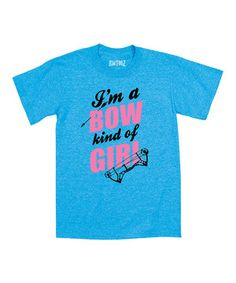 Look at this #zulilyfind! Turquoise 'I'm a Bow Kind of Girl' Tee - Toddler & Girls by Country Casuals #zulilyfinds