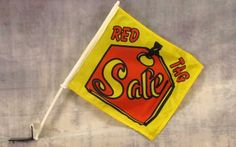Sale Red Tag Advertising Car Window Flag