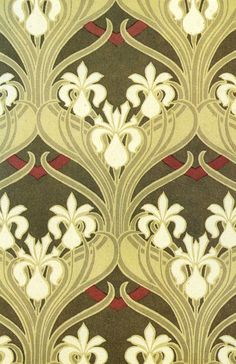 Illustration: Rene Beauclair. Decorative pattern, 1900.