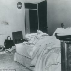 Mystery: This police photo, exclusively obtained by the authors, reveals a possible blood ...