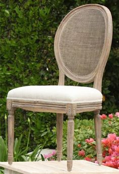 Vineyard Cane Back Upholstered Dining Chair | Town & Country Event Rentals