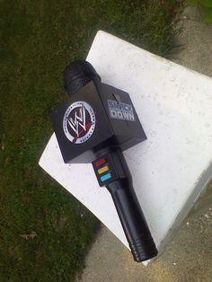 WWE WWF Pro Wrestling Cena Undertaker Electrionic Talking Voice Microphone Jakks #JAKKSPacific