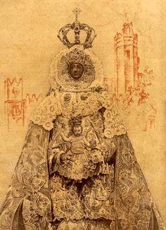 Virgen Negra de los Milagros. Cruzados de 1939.