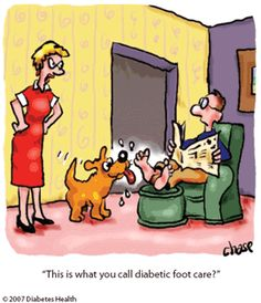 This is what you call diabetic foot care?