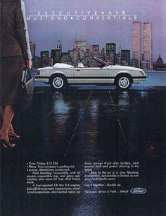 1983 Ford Mustang V6 Convertible Ad