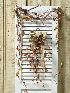 Primitive Shutters, Primitive Decor, Porch Candy, Country Sampler Magazine, Old Window Frames, Brick Cottage, Country Decor, Country Style, Old Shutters